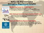 nationally representative emergency department samples