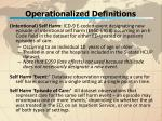 operationalized definitions