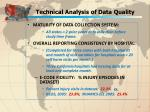 technical analysis of data quality