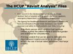 the hcup revisit analysis files