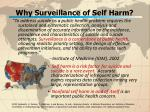 why surveillance of self harm