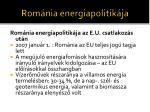 rom nia energiapolitik ja