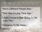 i will betroth you to me forever1