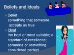 beliefs and ideals