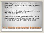 4 1 plitics and global business