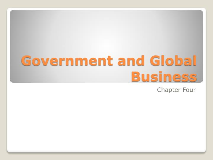government and global business n.
