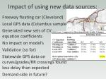 impact of using new data sources