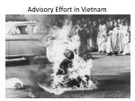 advisory effort in vietnam