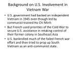 background on u s involvement in vietnam war