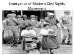 emergence of modern civil rights movement
