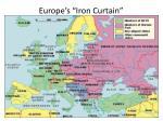 europe s iron curtain