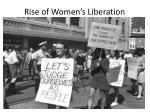 rise of women s liberation