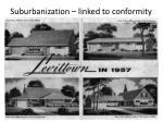 suburbanization linked to conformity