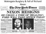 watergate burglary fall of richard nixon