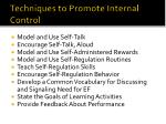 techniques to promote internal control