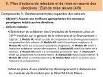 ii plan d actions de relecture et de mise en uvre des directives etat de mise uvre 4 9