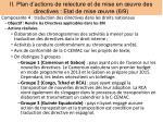 ii plan d actions de relecture et de mise en uvre des directives etat de mise uvre 6 9