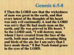 genesis 6 5 8