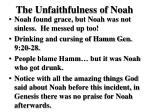 the unfaithfulness of noah