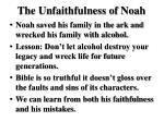 the unfaithfulness of noah1