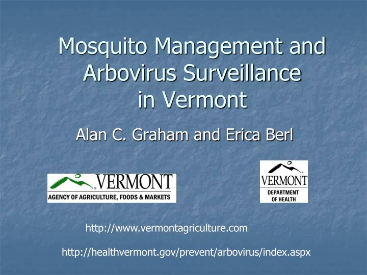 mosquito management and arbovirus surveillance in vermont n.