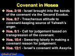 covenant in hosea
