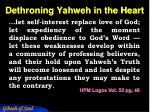 dethroning yahweh in the heart1