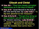 gibeah and christ1