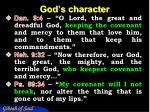 god s character