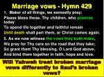 marriage vows hymn 429