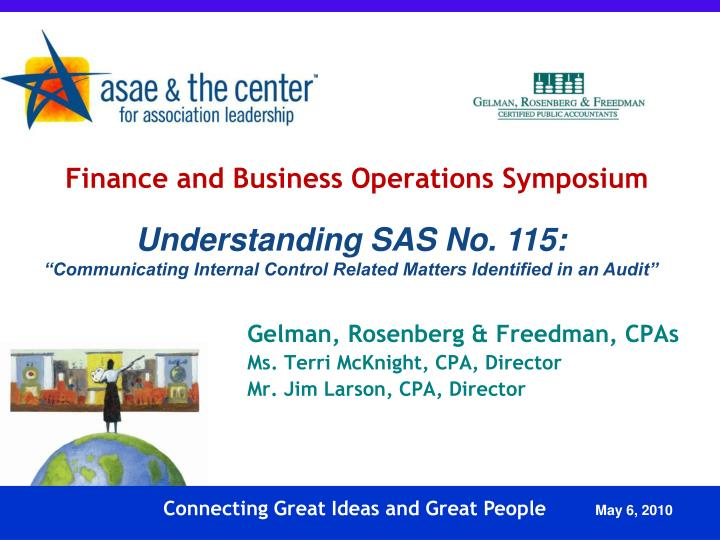PPT Finance and Business Operations Symposium PowerPoint
