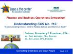 finance and business operations symposium