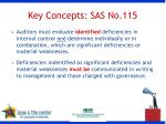 key concepts sas no 115