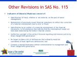 other revisions in sas no 115