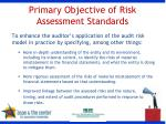 primary objective of risk assessment standards