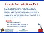 scenario two additional facts