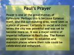 paul s prayer