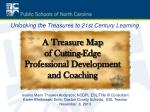 a treasure map of cutting edge professional development and coaching