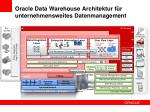 oracle data warehouse architektur f r unternehmensweites datenmanagement