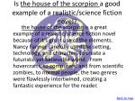 is the house of the scorpion a good example of a realistic science fiction novel