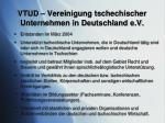 vtud vereinigung tschechischer unternehmen in deutschland e v