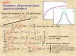 mints generalized temporal description geophysical intuition