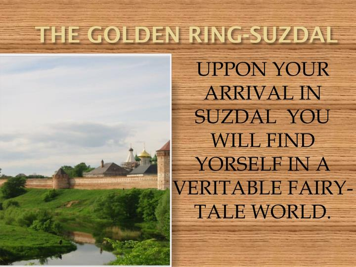 the golden ring suzdal n.
