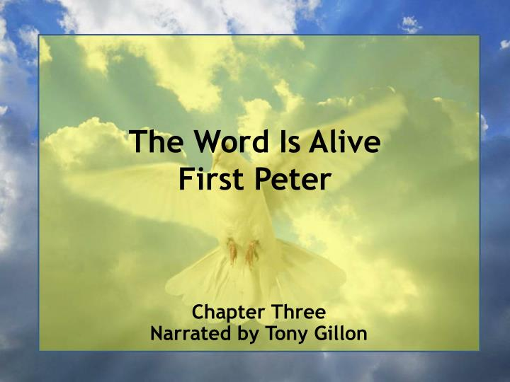 the word is alive first peter n.