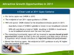 attractive growth opportunities in 2011