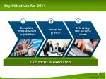 key initiatives for 2011