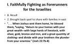 i faithfully fighting as forerunners for the israelites5