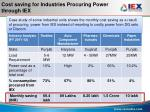cost saving for industries procuring power through iex