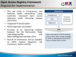 open access registry framework proposal for implementation