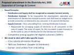 proposed amendment in the electricity act 2003 separation of carriage content